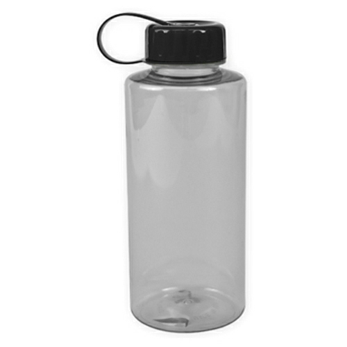 Clear/black The Mountaineer - 36 oz. Tritan Bottle as seen from the front