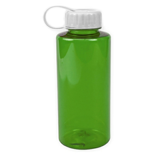 Transparent Green/white The Mountaineer - 36 oz. Tritan Bottle as seen from the front