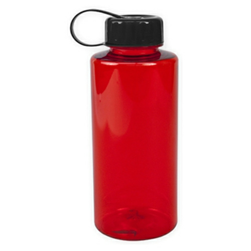 Transparent Red/black The Mountaineer - 36 oz. Tritan Bottle as seen from the front