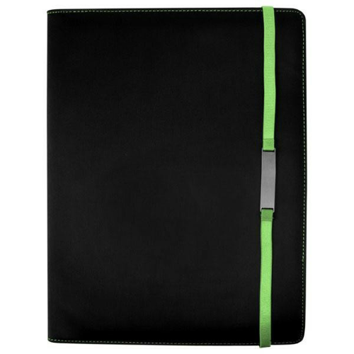 Lime Tablet Stand E-Padfolio as seen from the front