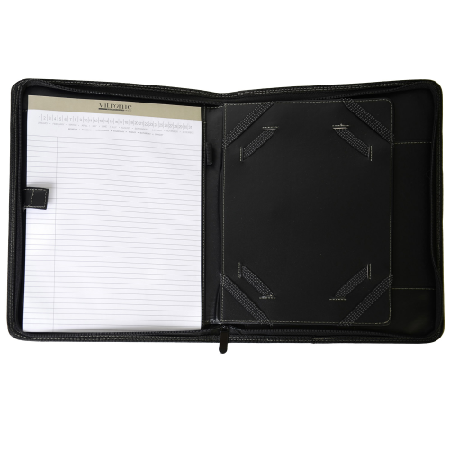 Open Ultimate Zippered Tablet E-Padfolio as seen from the front