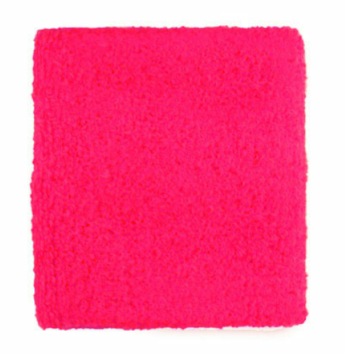 Fluorescent Pink Wristbands as seen from the front