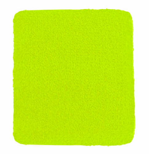 Fluorescent Yellow-green Wristbands as seen from the front