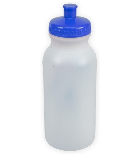 Frost/royal Blue The Omni - 20 oz. Bike Bottles as seen from the front