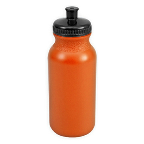 Neon Orange/black The Omni - 20 oz. Bike Bottle Colors as seen from the front