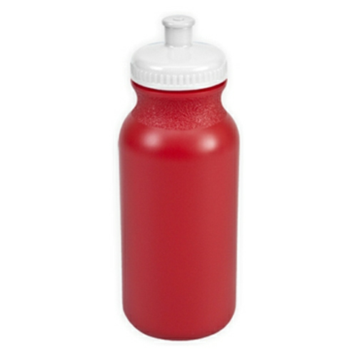 Red/white The Omni - 20 oz. Bike Bottle Colors as seen from the front