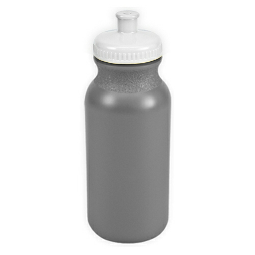 Silver/white The Omni - 20 oz. Bike Bottle Colors as seen from the front