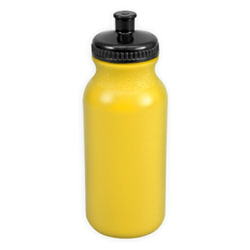 Yellow/black The Omni - 20 oz. Bike Bottle Colors as seen from the front