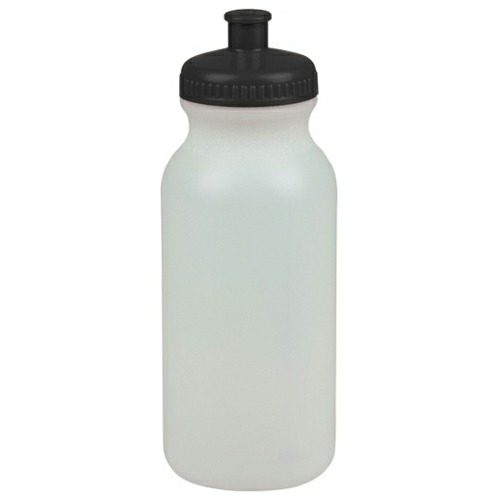 Glow In The Dark/black 20 oz. Glow-In-The-Dark Sports Bottle as seen from the front