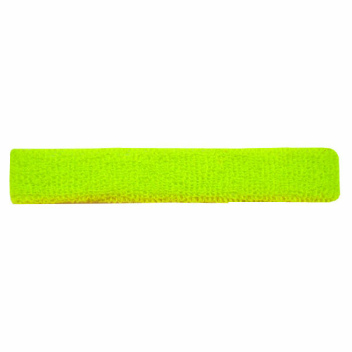 Fluorescent Yellow-green Narrow Fashion Headbands as seen from the front