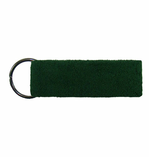 Dark Green Mini Wristband Keyrings  as seen from the front