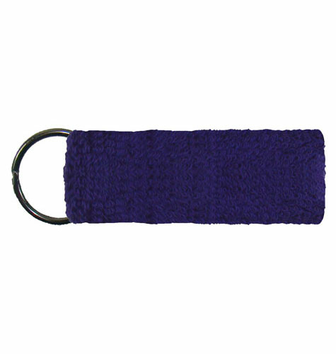 Purple Mini Wristband Keyrings  as seen from the front