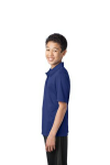 Royal Port Authority Youth Silk Touch Performance Polo as seen from the sleeveleft