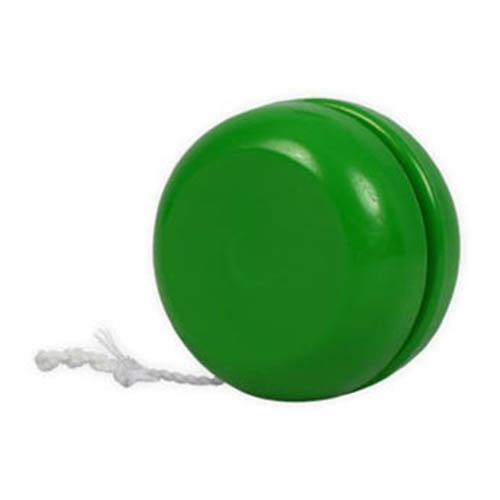 Green Classic Yo-Yo as seen from the front