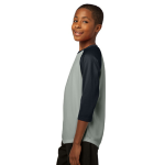 Silver Black Sport-Tek Youth PosiCharge Baseball Jersey as seen from the sleeveleft