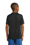 Black Sport-Tek Youth Competitor Tee as seen from the back