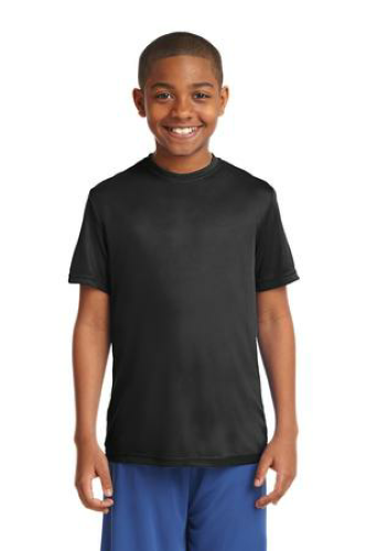 Black Sport-Tek Youth Competitor Tee as seen from the front