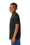 Black Sport-Tek Youth Competitor Tee as seen from the sleeveleft