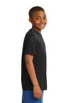 Black Sport-Tek Youth Competitor Tee as seen from the sleeveright