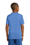 Carolina Blue Sport-Tek Youth Competitor Tee as seen from the back
