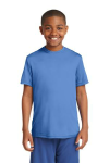 Carolina Blue Sport-Tek Youth Competitor Tee as seen from the front