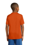 Deep Orange Sport-Tek Youth Competitor Tee as seen from the back