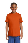 Deep Orange Sport-Tek Youth Competitor Tee as seen from the front