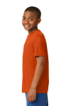 Deep Orange Sport-Tek Youth Competitor Tee as seen from the sleeveleft