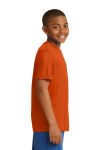 Deep Orange Sport-Tek Youth Competitor Tee as seen from the sleeveright