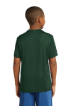 Forest Green Sport-Tek Youth Competitor Tee as seen from the back