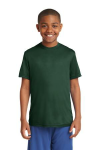 Forest Green Sport-Tek Youth Competitor Tee as seen from the front