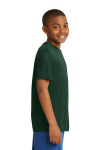 Forest Green Sport-Tek Youth Competitor Tee as seen from the sleeveright