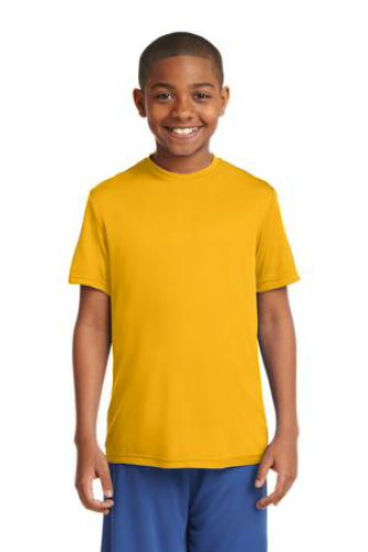 Gold Sport-Tek Youth Competitor Tee as seen from the front