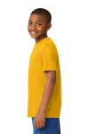 Gold Sport-Tek Youth Competitor Tee as seen from the sleeveleft