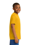 Gold Sport-Tek Youth Competitor Tee as seen from the sleeveright