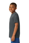 Iron Grey Sport-Tek Youth Competitor Tee as seen from the sleeveleft