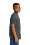 Iron Grey Sport-Tek Youth Competitor Tee as seen from the sleeveright