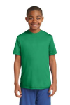 Kelly Green Sport-Tek Youth Competitor Tee as seen from the front