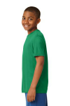 Kelly Green Sport-Tek Youth Competitor Tee as seen from the sleeveleft