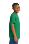 Kelly Green Sport-Tek Youth Competitor Tee as seen from the sleeveright