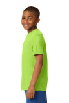 Lime Shock Sport-Tek Youth Competitor Tee as seen from the sleeveleft