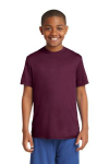 Maroon Sport-Tek Youth Competitor Tee as seen from the front