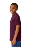 Maroon Sport-Tek Youth Competitor Tee as seen from the sleeveleft