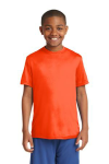 Neon Orange Sport-Tek Youth Competitor Tee as seen from the front