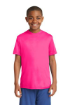 Neon Pink Sport-Tek Youth Competitor Tee as seen from the front