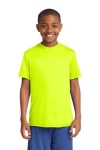 Neon Yellow Sport-Tek Youth Competitor Tee as seen from the front