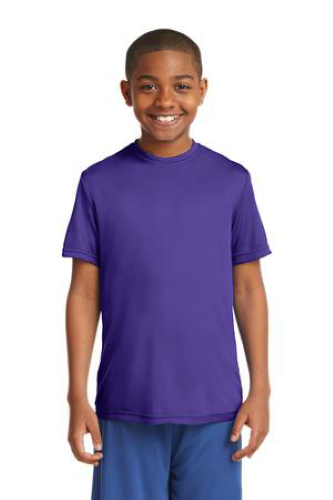 Purple Sport-Tek Youth Competitor Tee as seen from the front