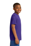 Purple Sport-Tek Youth Competitor Tee as seen from the sleeveright