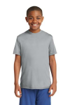 Silver Sport-Tek Youth Competitor Tee as seen from the front