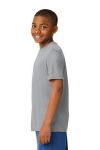 Silver Sport-Tek Youth Competitor Tee as seen from the sleeveleft